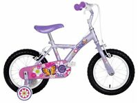 "(3068) 14"" APOLLO PETAL Girls Kids Childs Bike Bicycle + STABILISERS Age: 4-5, Height: 98-112 cm"
