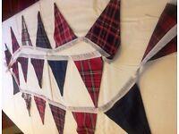 Tartan Bunting for Wedding / Party / Celebration