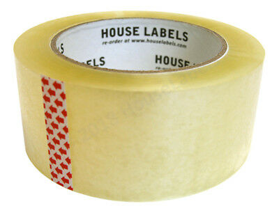 6 Rolls Of Clear Packing Shipping Tape Strong 2 X 110 Yards330 Ft 2mm Thick