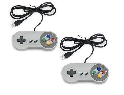 2x Nintendo SNES PC GamePad SFC Controlador párr Super Famicom de PC...