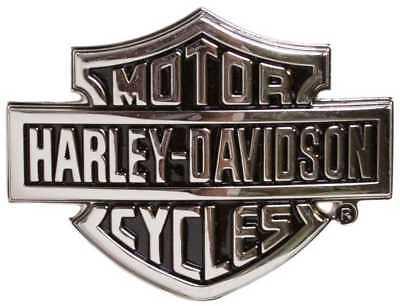 Harley-Davidson Men's Chrome Bar & Shield Logo Belt Buckle HDMBU10615