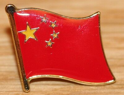 CHINA Chinese Flag Country Metal Lapel Pin Badge
