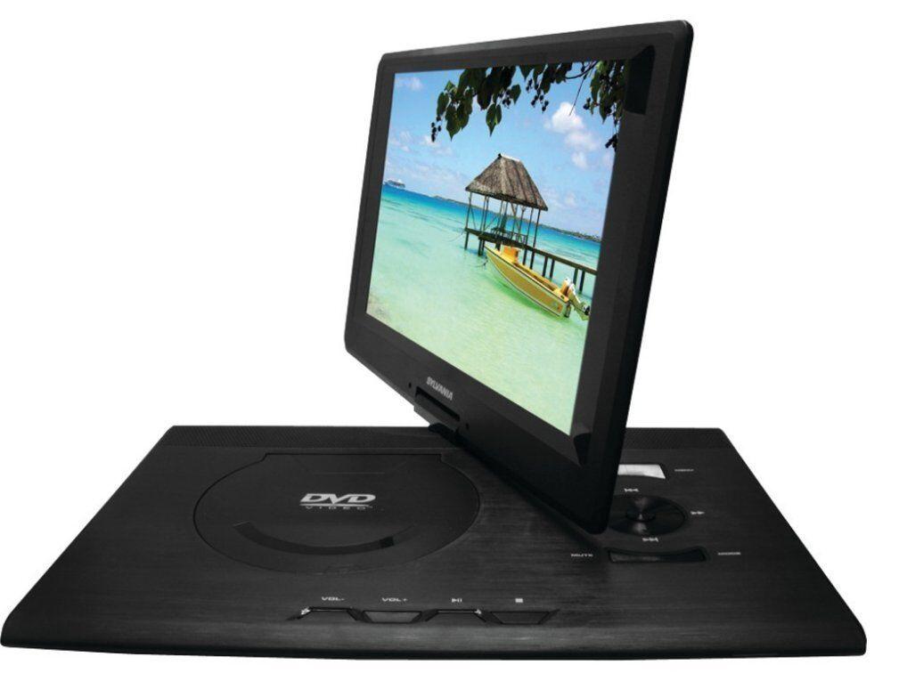 "New 13"" LCD Swivel Screen Portable DVD CD MP3 Player USB/SD"