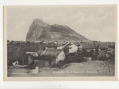 Gibraltar Rock From La Pedrera Vintage Postcard Cumbo 200b