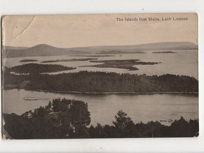 The Islands From Mulia Loch Lomond 1915 Postcard 165b