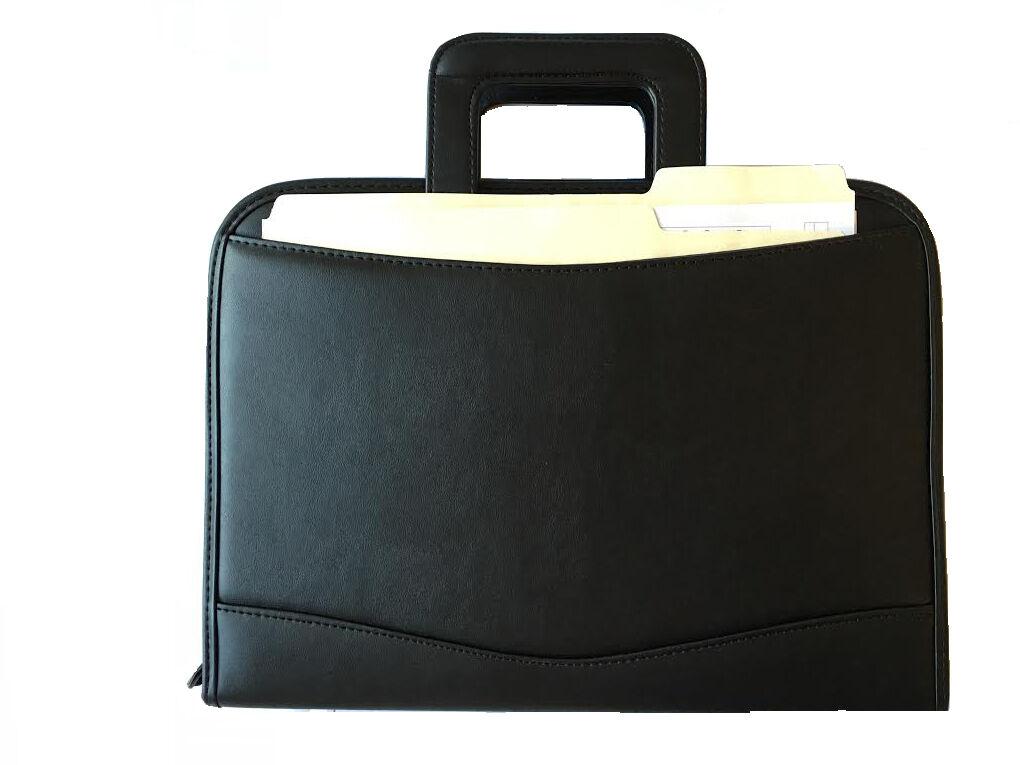 ImpecGear Briefcase Binder Padfolio Notepad, Calculator Exec