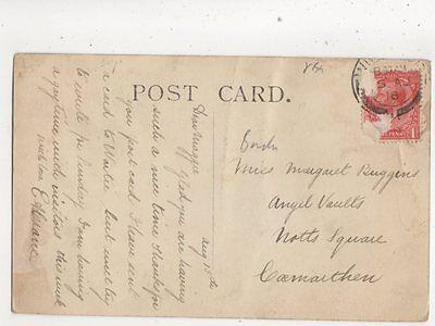 Miss Margaret Buggins Angel Vaults Notts Square Carmarthen 1918 509b
