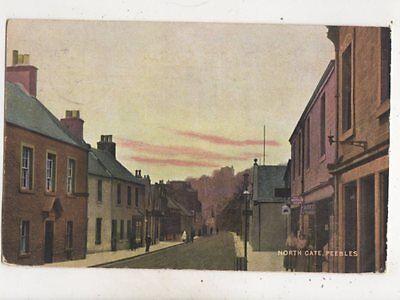 North Gate Peebles Scotland 1906 Postcard