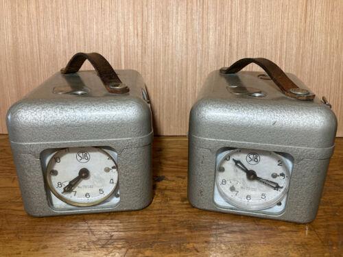 Lot of 2 - STB Switzerland Pigeon Timer Clock Swiss Made with Original Key
