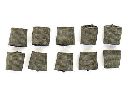 "1"" Mil-spec Elastic Webbing Strap Keepers - Ranger Green - 10 Pack"