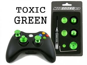 MODSTICKS PRO STICKS XBOX 360 CONTROLLER MODS - TOXIC GREEN