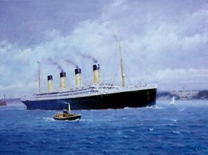 BEAUTIFUL PRINT / PICTURE / PAINTING ENTITLED THE TITANIC SHIP