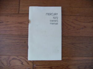 mercury 1972 owners manual