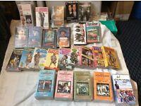 Assortment of vhs cassette tapes
