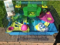 Savic Hamster Heaven cage and accessories