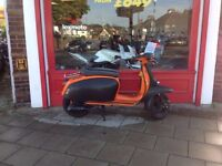 Scomadi TL125cc Orange Carbon delivery can be arranged