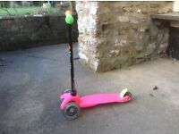 Mini Micro Scooter. Age 3 to 6 approx.