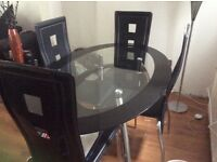 Oval Dining tablle and chairs