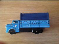 Vintage / antique tin toy.circa 1950s .louis Marx RAF military truck / Lorry
