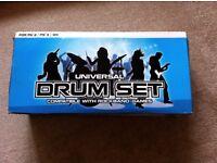 Wii Rock Star & Guitar hero bundle inc drums, drumsticks, guitar, foot pedal and CD in original box