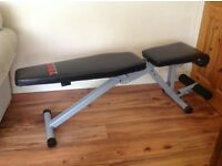York Fitness 13 in 1 Utility Bench. Very good condition. Retails at £120.
