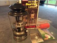 Boxed Coleman duel fuel lantern