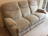 Quality 3 Seater Sofa with 2 Chairs and Footstool