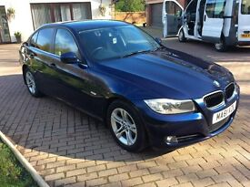 2011 61 BMW 318i es 4 door saloon,metallic blue,mint, may px
