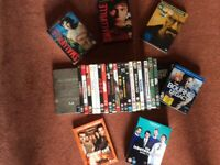 20 VARIOUS FILM DVDs, 1 BLU-RAY DISC & 7 BOX SETS.