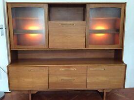 REDUCED £20 ono Teak display cabinet 1970s retro/vintage