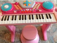 Childs electric keyboard