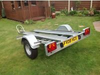 Galvanised twin motor bike trailer