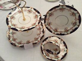 Vintage Wetley Cake Stand and Matching Trio