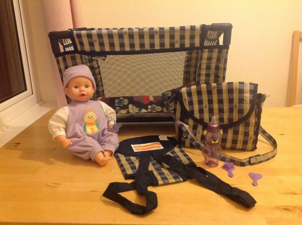 Doll, Travel Cot, Changing Bag, Baby Sling and Accessories | in ...