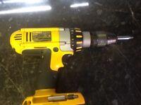 2 dewalt 18 v drills , used, bodies only