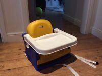 Portable high chair.