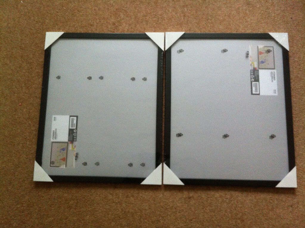 TWO BRAND NEW 40X50CM BLACK IKEA FISKBO PICTURE FRAMES