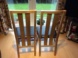 Modern Oak dining chairs in Corstorphine