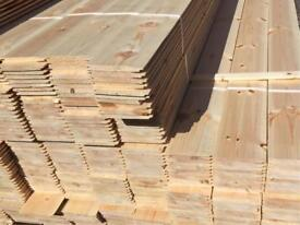 4.8mtr shiplap 5inch wide 12mm thick £4 per plank