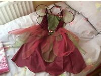 STUNNING MULBERRY FAIRY XMAS DRESS AGE 8-9 years. BNWT!