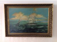 A Large Oil on Canvas Painting signed