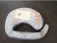 Breast feeding support pillow blue white in bag Vgc