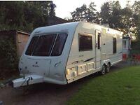 Compass rallye 634 twin axle caravan fixed bed end bath room