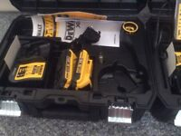 Dewalt tstack case,battery's and chargers