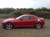 Mazda RX8 231. Velocity Red with factory fit Mazdaspeed body kit