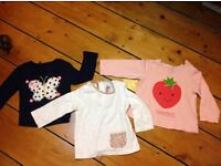 Baby girl 9-12 months tops and dresses bundle (11 items, most brand new)