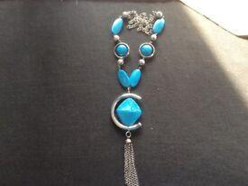 Aqua Long Necklace