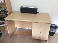 Chest of drawers, desk and bookcase for sale