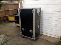 Selection of different size and shape flight cases
