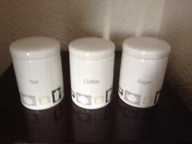 Tea, Coffee and Sugar storage set